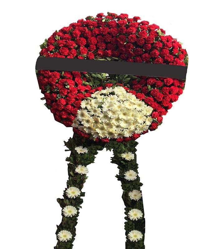 Kırmızı Pembe Cenaze Çiçeği