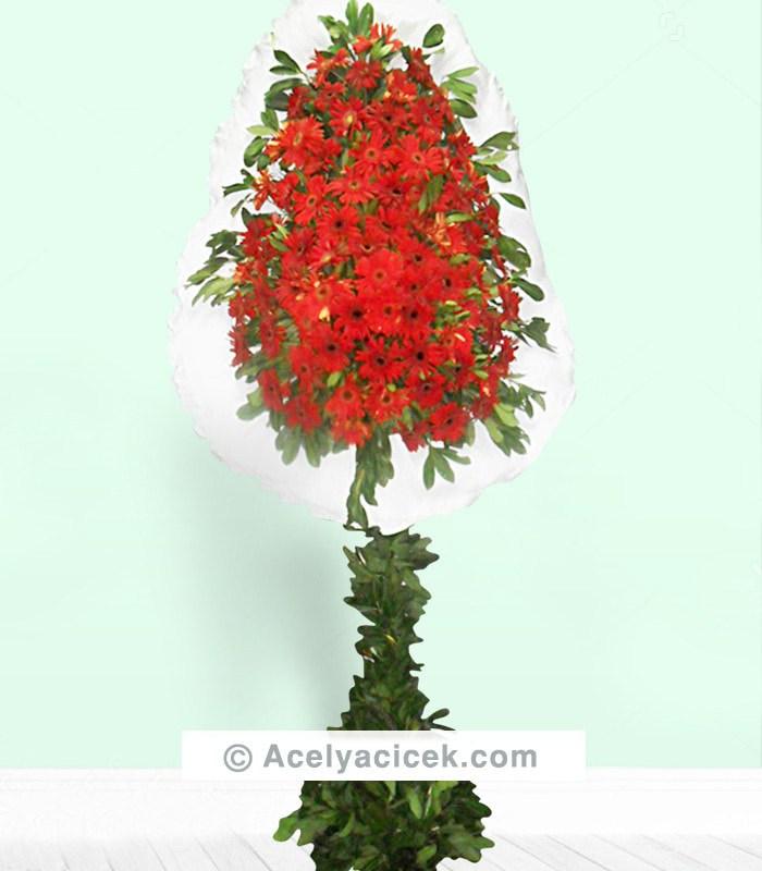Kırmızı Gerbera Sepet