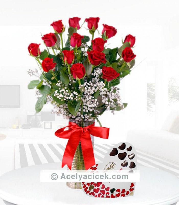 My Love Çikolatalı Kırmızı Güller
