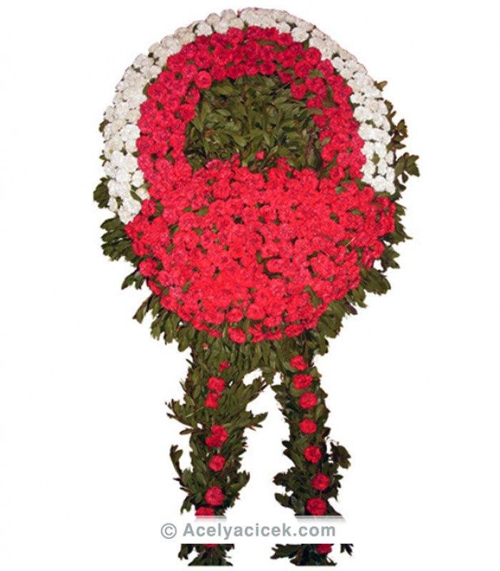 Kırmızı Beyaz Cenaze Çiçeği